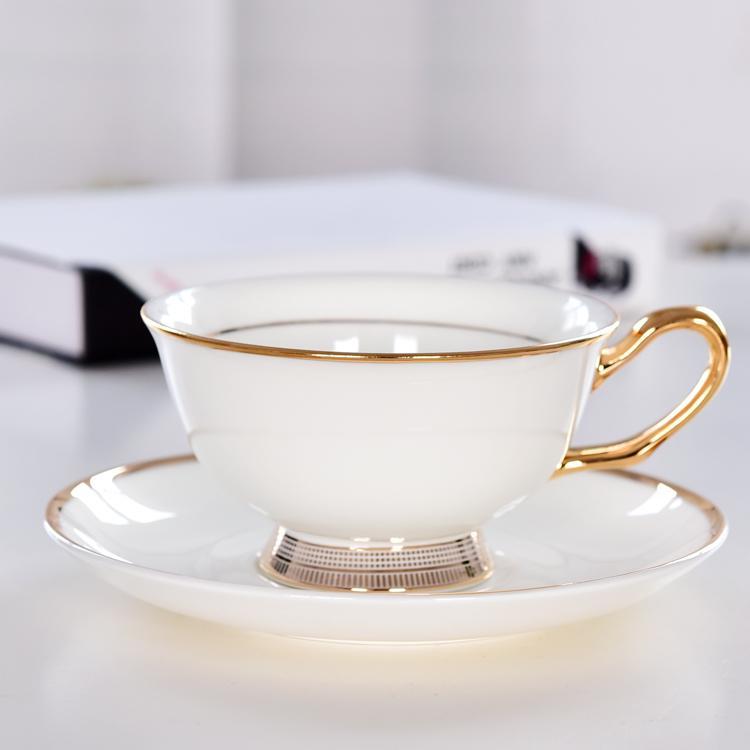 贵宾骨质瓷咖啡杯碟