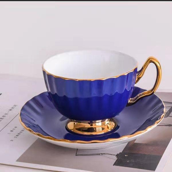色釉骨质瓷咖啡杯碟