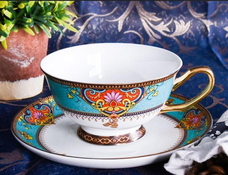 曼谷风情陶瓷杯碟