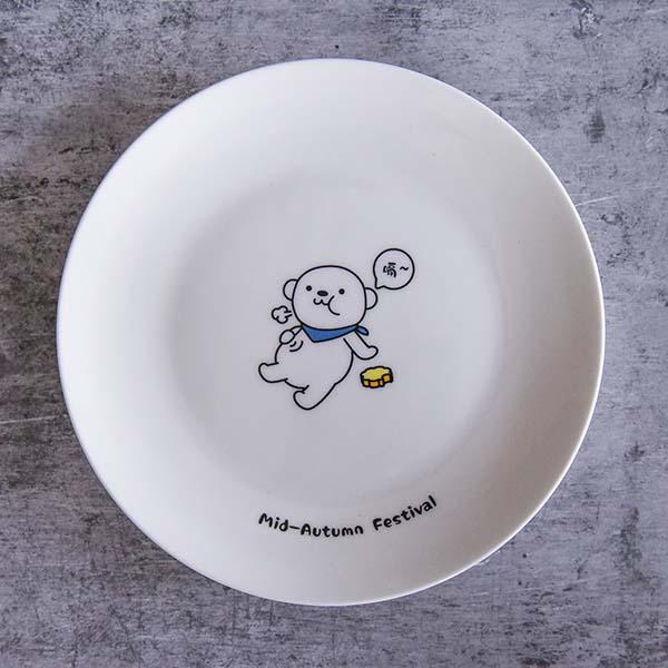 金山办公中秋陶瓷月饼盘