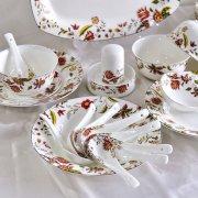 唐山骨瓷厂家:买骨瓷餐具别选太鲜艳的颜色